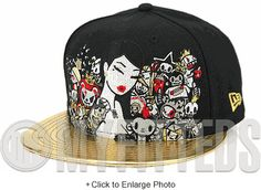 8c505fef093 Toki Doki 10th Anniversary Collaboration Jet Black Foiled Metallic Gold New  Era Snapback Hat New Era
