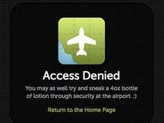 funny access denied page!