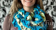 You can make a cosy scarf that is a combination of Jersey and Knit - comes with video tute!