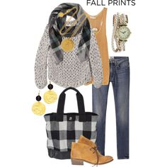 """""""Fall Prints: Buffalo Check"""" by simple-wardrobe on Polyvore"""