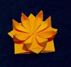 Easy Origami flower. 3d paper flower. Great decor for gift box. Ideas ...