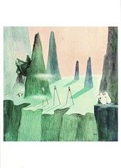 Moomin Poster Moomins and the Comet Chase 24 x 30 cm Kunst Inspo, Art Inspo, Art And Illustration, Tove Jansson, Art Reference, Finland, Fairy Tales, Cool Art, Art Prints