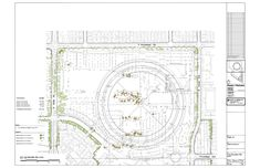 More about Foster + Partner's new Apple Campus in Cupertino,Tree disposition plan north © Foster + Partners, ARUP, Kier & Wright, Apple