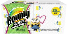 Bounty Bounty Napkins, Minion Prints - 220 ct