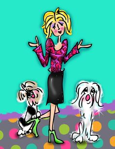 Hello.  I'm Debby Carman; cartoonist, creator, imagineer.  My two dogs are  Teddy Confetti and Cozy Coquetti. If you love what you do you can't call it work.  Ceramics, drawing, painting, writing, creating is what I love and what I  do.  Visit me @ www.fauxpawproductions.com www.faux-paw.com www.whimshots.com www.bowzersandmeowzers.com  or email me.   DebbyCarman@cox.net