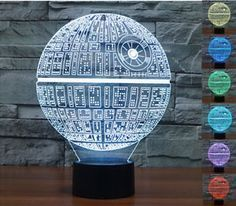 3D Star-Wars  LED  Night 7 Color Change Touch Switch Table Desk Lamp Light