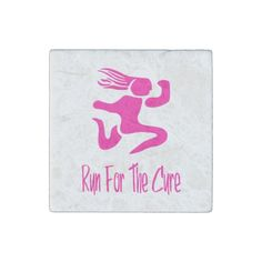 Run For The Cure Marble Stone Magnet #zazzle #magnets
