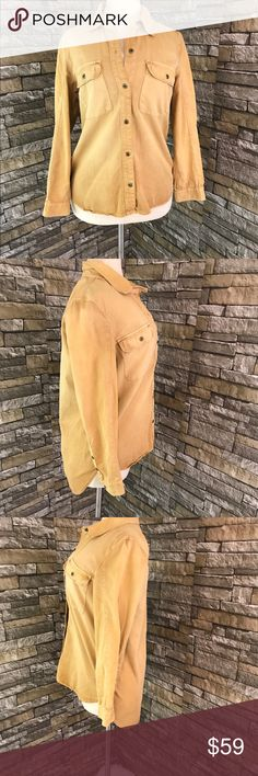 Madewell Womens Shirt Size Small Yellow Mustard Madewell Womens Shirt Size Small Yellow Mustard Button Up NWT. Condition: Brand new with tags Features: Collar, Button front, button cuffs. Chest: 17 inches, Length: 24 inches, Sleeves: 23 inches. Madewell Tops Button Down Shirts