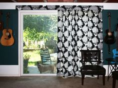Moms Eat Cold Food: Hanging Curtains on a Vertical Blind Track  Idea for those ugly blinds!!