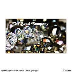 Shop Sparkling Beads Business Cards created by bigspl. Cool Business Cards, Custom Business Cards, Create Your Own, Card Making, Things To Come, Sparkle, Jewels, Beads, Popular