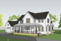 2800 sq ft classic american farmhouse with main floor master - the Withrow Farmhouse