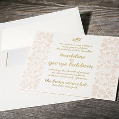 Madeline | Whimsical floral wedding invitations with calligraphy