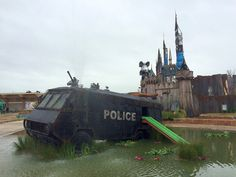 "Welcome to Dismaland: A First Look at Banksy's New Art Exhibition Housed Inside a Dystopian Theme Park [Updated 8/22/2015] ""Bring the whole family to come and enjoy the latest addition to our chronic leisure surplus—a bemusement park. A theme park who's big theme is: theme parks should have bigger themes…"""
