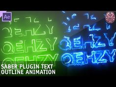 Tutorial: Saber Plugin Text Animation   After Effects by Qehzy - YouTube