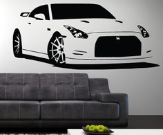Oh if only I could do my room in all Skyline and GTR   Vinyl Wall Decal Sticker Nissan GTR 22 x 49 by SIMPLEVINYL on Etsy, $49.99