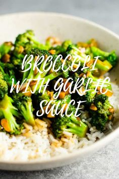 Broccoli With Garlic Sauce, Broccoli Soup, Fresh Broccoli, Broccoli Casserole, Broccoli Cheddar, Rice Recipes For Dinner, Lunch Box Recipes, Curry Recipes, Healthy Recipes