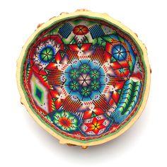 Huichol prayer bowl