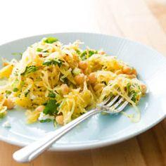 Spaghetti Squash Salad with Chickpeas and Feta   Cook