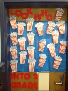 Welcome back to school bulletin board or door decoration, who popped ...