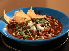 Ancho-Chipotle Turkey Chili recipe from Rachael Ray via Food Network