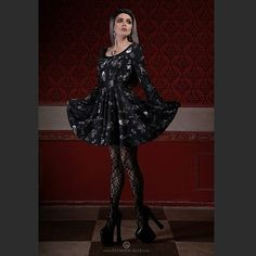 Dress from the @spindoctorclothing new collection <3  Photo by @zatsepin_alex  Jewelry by @alchemyengland  _____ #Elisanth #goth #gothic #girl #gothicgirl #altmodel #altfashion #spindoctor #alchemygothic #highheels #shoes #pleaser #highheelshoes #stockings #greyhair #ombrehair #wig #lacefrontwig #dress #occult #ritual #witch #alternative #model #outfit #jewelry #jewellery
