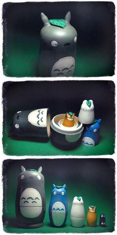 Totoro nesting dolls. I NEED THESE!