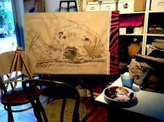 Work in progress ,painted. by lucilla bollati.com #dogs