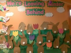 Nope, only some will. It's always going to be winter for some people! LMFAO. Springtime bulletin boards | Pin it Like Image