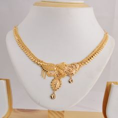 shop plated women beautiful thread jewellery fashion gold shape necklace chain set