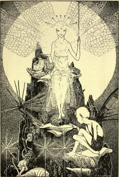 Down-adown-derry; a book of fairy poems, with illus. by Dorothy P. Lathrop by De la Mare, Walter, 1873-1956.