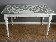 Love this fun, graphic painted desk. Who says furniture has to be solid?