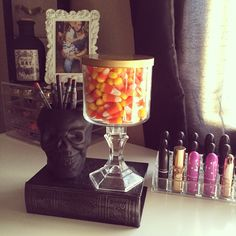 Bath and body works candle reused into candy jar