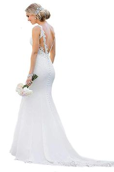 Shop a great selection of WeddingDazzle Sexy Backless Lace Appliques Mermaid Wedding Dresses 2018 Birde. Find new offer and Similar products for WeddingDazzle Sexy Backless Lace Appliques Mermaid Wedding Dresses 2018 Birde. Backless Mermaid Wedding Dresses, Beach Bridal Dresses, Lace Beach Wedding Dress, Wedding Dresses 2018, Mermaid Dresses, Cheap Wedding Dress, Bridal Gowns, Dress Prom, Backless Wedding
