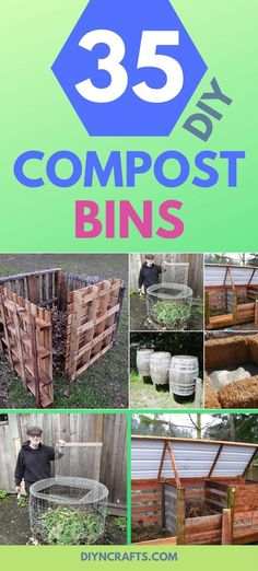 Do you have a compost bin? Do you even compost? If not, you're missing out on a wonderful way to add nutrients to your gardening this spring. If you have never had a compost bin, now is definitely the Build Compost Bin, Homemade Compost Bin, Best Compost Bin, Making A Compost Bin, Compost Soil, Garden Compost, Outdoor Compost Bin, Compost Barrel, Compost