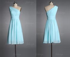light blue bridesmaid dress short bridesmaid dress by fitdesign, $93.00