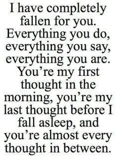 beautiful Typography romance i love you lovely true love everything love quotes Romantic fallen for you morning affection naw completely quote picture my first thought in between deep love love quotes for him love quotes for her before i fall asleep every thought