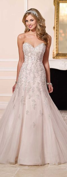 Stella York Spring 2016 Wedding Dress www.finditforweddings.com  Strappless lace wedding dress