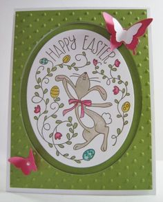 Happy Easter Bunny Card by Barb Mann - Cards and Paper Crafts at Splitcoaststampers Stampin' Up!