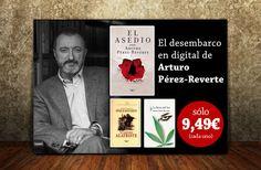 Diseño de banner ebooks Arturo Pérez Reverte | Dolphin Tecnologías