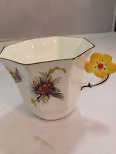 Melba Art Deco Flower Handle Cup