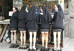 why are these nuns sitting at a bar in the first place?