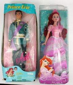 "Disney The Little Mermaid Prince Eric 11.5"" doll by Tyco and Ariel by Mattel #Tyco"