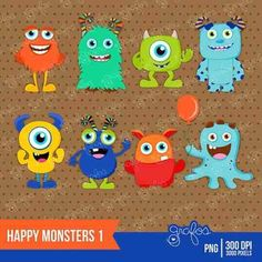 tarjeta cumpleaños monstruos - Buscar con Google