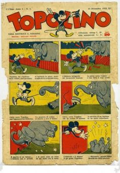 Nasceva nel Natale del 1932 il primo giornale interamente dedicato a #Topolino