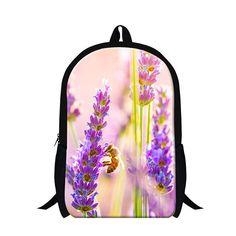 f3637eadd78b Top selling 3D flower priting girls school backpacks for  teenagers
