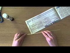 Wiklina papierowa - jak skręcać rurki - YouTube