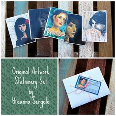 These incredible note cards were donated by reader Breanna Bostwick Sengele. Each portrait is her own original artwork. Breathtaking no? #raphahouse #sharethelove #endhumantrafficking #originalart