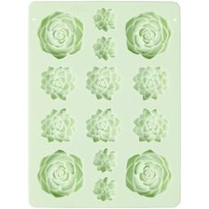 Succulents Silicone Candy Mold by Wilton. Turn desert into dessert with this adorable succulents lolli mold and Candy Melts candy. Fill with ounces ml) of melted Candy Melts candy, then chill until firm. Place mold upside down on flat Candy Melts, Resin Molds, Soap Molds, Magnum Paleta, Succulent Cupcakes, Candy Molds Silicone, Wilton, Colorful Candy, Pastel Candy