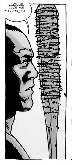 Negan and Lucille Walking Dead Comic Book, Walking Dead Comics, Walking Dead Tv Show, Fear The Walking Dead, Walking Dead Tattoo, Twd Comics, Negan Lucille, Talking To The Dead, Stuff And Thangs