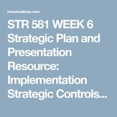 STR 581 WEEK 6 Strategic Plan and Presentation Resource: Implementation Strategic Controls and Contingency Plans assignment with facilitator feedback  Complete a strategic plan for your organization of no more than 3,500 words.  Update your plan to incorporate facilitator feedback from the drafts you submitted in previous weeks. Include the following:  Table of contents Executive summary, with a 2-page maximum Company background organizational mission vision and value statements Note. For a…